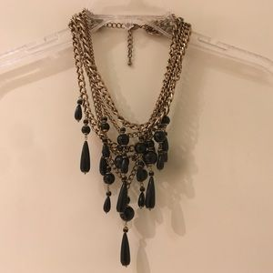 H&M statement necklace gold and black